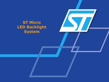 ST Micro LED Backlight System - SID
