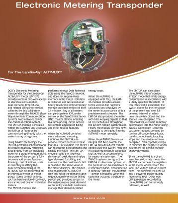 Electronic Metering Transponder For The Landis+Gyr ... - Aclara