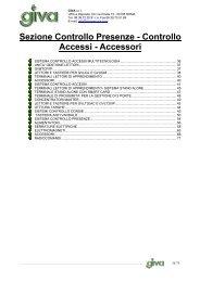 Sezione Controllo Presenze - Controllo Accessi ... - Giva Energy