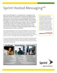 Sprint Hosted Messaging