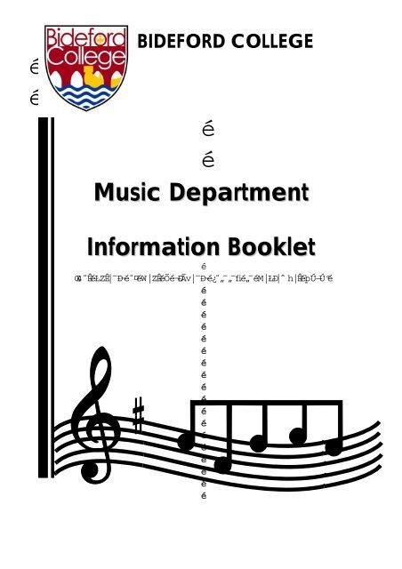 é é é é Music Department Information Booklet - Bideford College ...