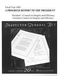 PCIE/ECIE Annual Report to the President - Council of the ...