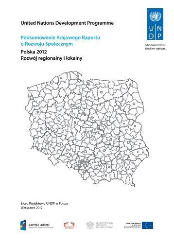 Podsumowanie Krajowego Raportu o Rozwoju Społecznym. Polska ...