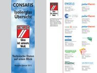CONSAFIS Isolierglas Übersicht Technische Daten auf einen Blick ...