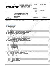 Engineering Standard Template - Christie Digital Systems