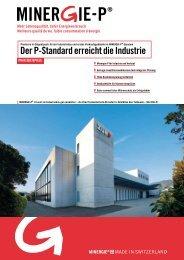 Der P-Standard erreicht die Industrie - Minergie