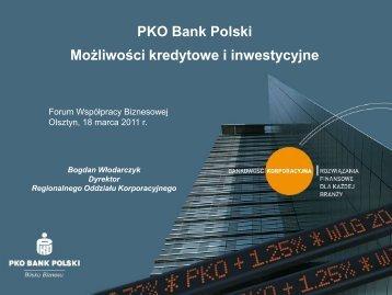 PKO Bank Polski, Możliwości kredytowe i inwestycyjne