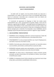 LOJA DE RUA x LOJA DE SHOPPING QUAL É O ... - Fecomercio