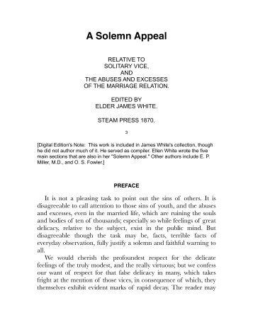 James White - A Solemn Appeal.pdf - Centro de Pesquisas Ellen G ...