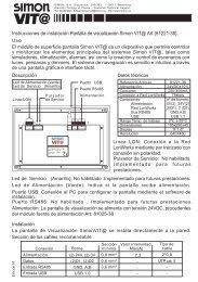 Instrucciones de instalación de la Pantalla de visualización Simon VIT