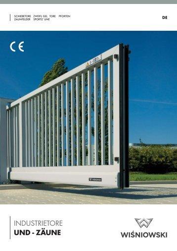 Prospekt Industrietore (PDF - 1,2 MB) - Internetschlosser