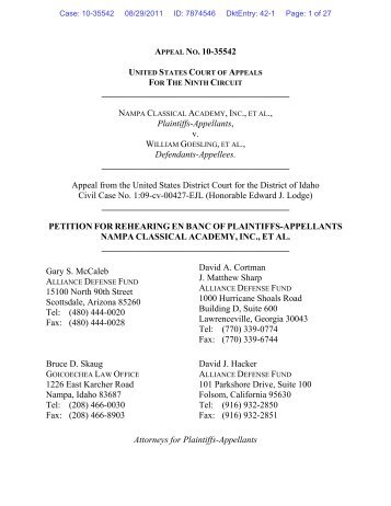 request for rehearing - Alliance Defending Freedom Media