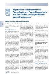Bayerische Landeskammer der Psychologischen ... - PTK Bayern