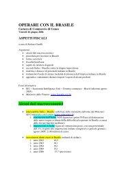 Aspetti fiscali - Camera di Commercio