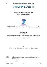 Final Report - LinkSCEEM