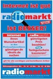 Aktuelle Beilage - Radiomarkt