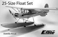 25-Size Float Set - E-flite
