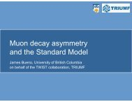Muon decay asymmetry and the Standard Model - TWIST - Triumf