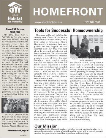 Spring 2007 Issue - Atlanta Habitat for Humanity