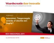Workshop 9: Innoveren; Toegevoegde waarde of slechts een begrip?