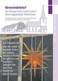 Dez - März 2011 - hofstetten-evangelisch.com