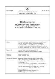 Realizace práv průmyslového vlastnictví - Univerzita Palackého v ...