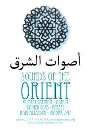Gilbert Yammine - Qanun Rainer Glas - basses Hadi Alizadeh ...