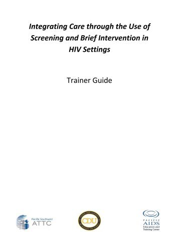 SBI in HIV Settings Trainer Guide - UCLA Integrated Substance ...