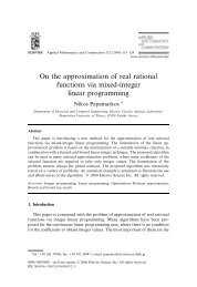 On the approximation of real rational functions via mixed-integer ...