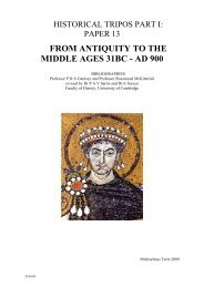 from antiquity to the middle ages 31bc - ad 900 - Faculty of History ...