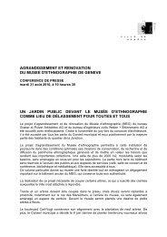 AGRANDISSEMENT ET RENOVATION DU ... - Ville de Genève