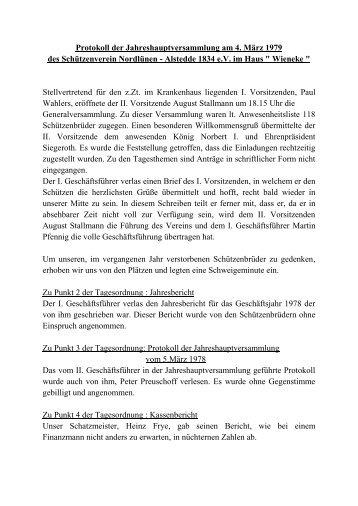 1979 - Schützenverein Nordlünen-Alstedde
