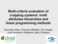 Multi-criteria evaluation of cropping systems: multi attribute ...