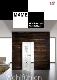 MAME - Glastüren und Glasschiebetüren Katalog ... - Glas Pichl GmbH