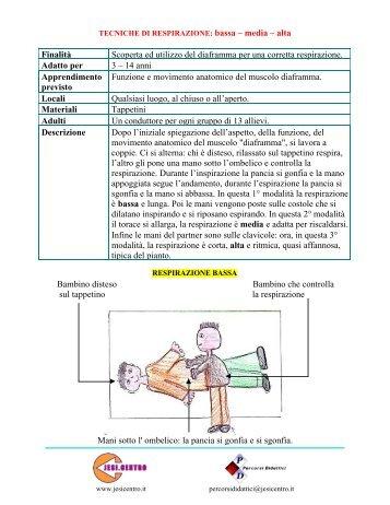 Tecniche di respirazione: bassa-media-alta