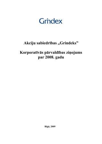 Korporatīvās pārvaldības ziņojumu - Grindeks