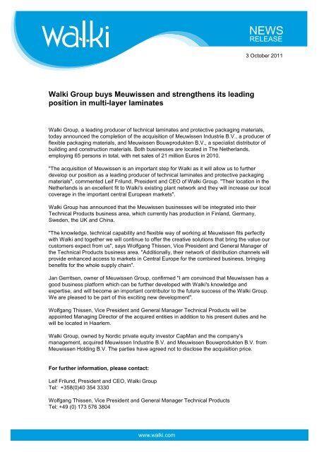 External release_Walki acquires Meuwissen.pdf