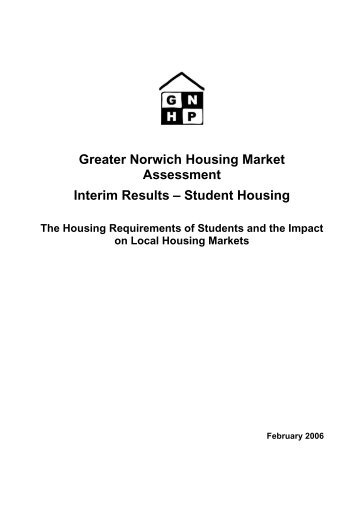 Housing Market Assessment: student accomodation research report