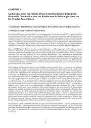 Le Dialogue entre les Nations Unies et les Mouvements ... - NGLS