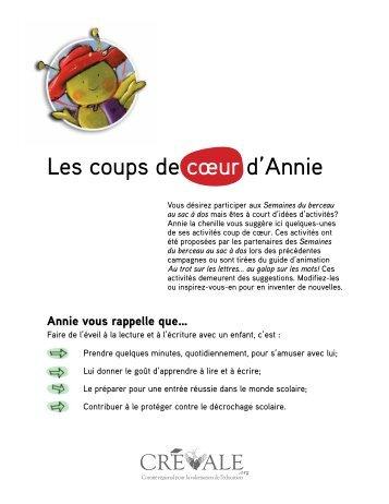 Les coups de cœur d'Annie - CREVALE