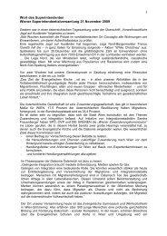 Wort des Superintendenten - November 2009 - Evangelische Kirche ...