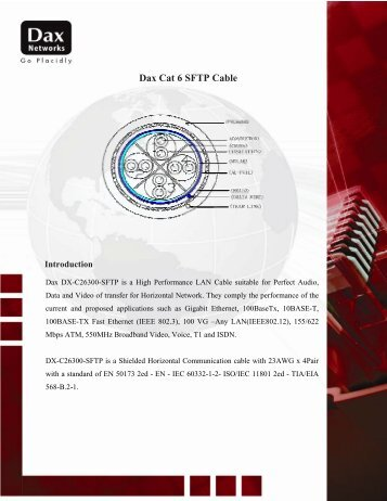 D Dax Cat 6 6 SFTP C Cable - Dax Networks
