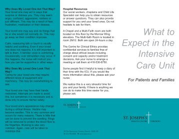 What to Expect in the Intensive Care Unit (ICU) - St. Joseph's Health ...