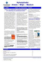 Nr 1/2006 - Arbets- och miljömedicin   Uppsala