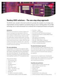Turnkey ASIC solutions – The one-stop shop approach - Delta