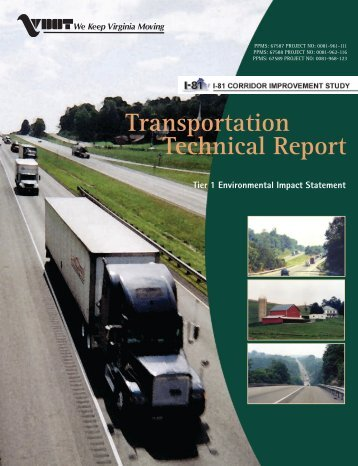 Transportation Technical Report - Virginia Department of ...