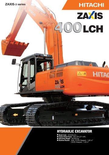 HYDRAULIC EXCAVATOR - Hitachi Construction Machinery