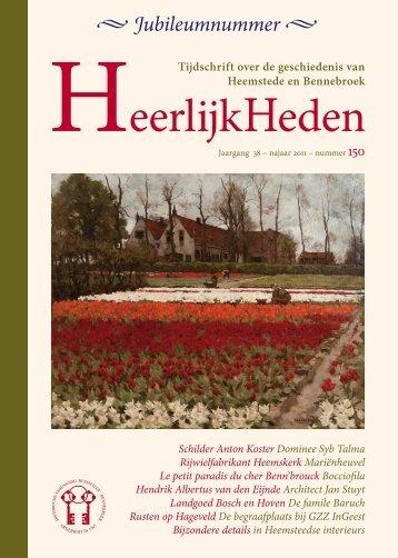 Jubileumnummer - Historische Vereniging Heemstede-Bennebroek