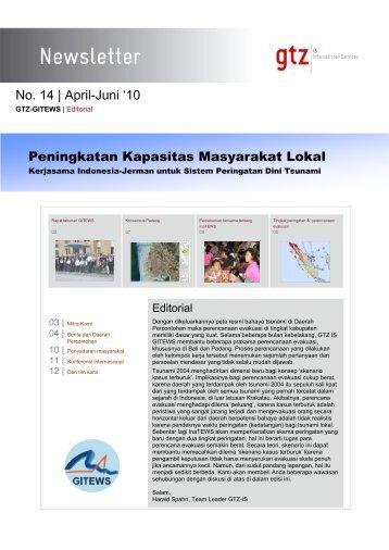 No. 14 | April-Juni '10 Peningkatan Kapasitas Masyarakat ... - GITEWS