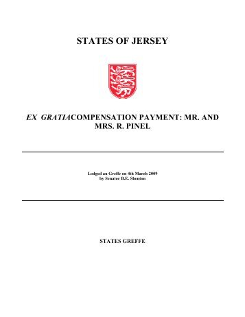 Ex gratia compensation payment: Mr. and Mrs. R - States Assembly